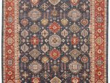 """8 Foot Square area Rug Zigler Blue Square Hand Knotted 8 11"""" X 9 11"""" area Rug 254"""