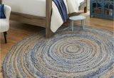 8 Ft Round Rug Blue Blue 8 X 8 Braided Chindi Round Rug