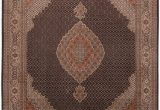 """8 Ft Square area Rugs Mahi Beige Square Hand Knotted 6 7"""" X 8 6"""" area Rug 254"""