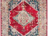 8 Ft Square area Rugs Monaco Marsan Ivory Red 8 Ft X 10 Ft area Rug