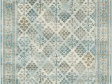 8 Ft X 8 Ft Square area Rug area Rug Vintage Light Blue 5 X 8 Ft St John Collection Rugs Inspired Overdyed Carpet
