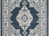 8 X 10 Round area Rugs Madison 500 Collection 8 X 10 Rug In Cream and Navy