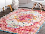 8 X 10 soft area Rugs Shop Nuloom Vintage Persian soft Pink Border area Rug 8