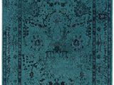 8 X 10 Teal area Rug Teal Blue Overdyed Style area Rug with Ikea oriental