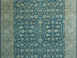 "8 X 12 Blue Rug E Of A Kind Bourke Hand Knotted Traditional Style Blue Beige 9 8"" X 12 9"" Wool area Rug"