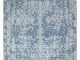 "8 X 12 Blue Rug E Of A Kind Damask Hand Knotted 8 11"" X 12 Wool Blue area Rug"