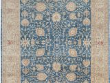 "8 X 12 Blue Rug E Of A Kind Hand Knotted Blue 9 8"" X 12 5"" Wool area Rug"