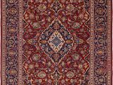8 X 12 Blue Rug Red 8 X 12 Kashan Persian Rug