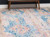 8×10 area Rugs World Market Blue 8 X 10 Madrid Rug Esalerugs