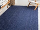 8×10 Blue and Brown area Rugs 8 X 10 Braided Jute Rug