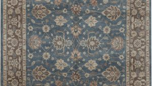 8×10 Blue and Brown area Rugs Cornwall oriental Hand Knotted 8 X 10 Wool Blue Brown area Rug