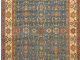 8×10 Blue and Brown area Rugs E Of A Kind Ariya Hand Knotted Kazak Blue Ivory Brown 8 X 10 Wool area Rug