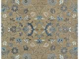 8×10 Blue and Brown area Rugs Kaleen Rugs Helena Hand Tufted area Rug Brown Light Blue 8 X 10