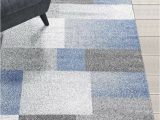 8×10 Blue and Brown area Rugs Rugs area Rugs Carpets 8×10 Rug Modern Large Floor Room Blue