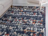 8×10 Blue and Gray Rug Navy Blue 8 X 10 Morocco Rug Esalerugs Navy Blue area