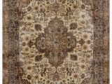 """9 by 9 area Rug Turkish Vintage area Rug 6 8"""" X 9 9"""" 80 In X 117 In"""