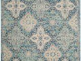 9 Foot Square area Rug Evoke Cara Light Blue Ivory 6 Ft 7 Inch X 9 Ft Indoor