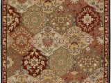 9 Foot Square area Rugs Surya Cae 1034 Caesar Red 9 Feet 9 Inch Square area Rug