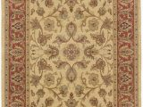 9 Ft by 12 Ft area Rugs Amazon oriental Pattern area Rug In Beige and Rust 12