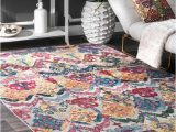 Abstract area Rug for Sale Nuloom Multi Traditional Vibrant Abstract Floral Waves