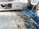 Abstract Loomed area Rug Nuloom Nuloom Abstract Contemporary Modern area Rug Multi In Blue