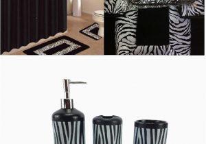 African Bathroom Rug Set Ahf Wpm 19 Piece Bath Accessory Set Black Zebra Animal Print Bath Rug Set Black Zebra Shower Curtain & Accessories