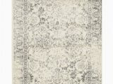 Aleyna Gray Ivory area Rug Adirondack Abstract Ivory Silver area Rug