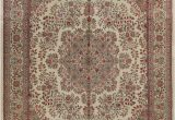 """Aleyna Gray Ivory area Rug E Of A Kind Bellwood Hand Knotted 1960s Ivory 10 1"""" X 14 1"""" Wool area Rug"""