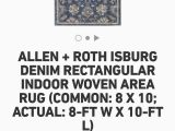 Allen Roth area Rug 8×10 Allen Roth isburg Denim Rectangular Indoor Woven area Rug 8ft — 10ft