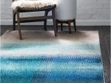 Alvarez Mineral Blue Hand Tufted Rug Applecroft Ombre Blue area Rug