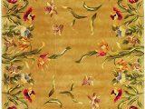 Amazon Com Round area Rugs Kas Rugs 9080 Emerald Tulip Garden Round area Rug 7 Feet 6 Inch Gold