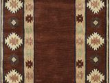 Amazon Com Round area Rugs Rizzy Home Collection Wool area Rug 10 Round Burgundy Tan Rust Navy Sage southwest Tribal