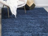Amazon Navy Blue Rug Amazon Unique Loom solo solid Shag Collection Modern
