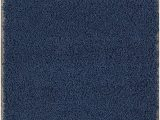 """Amazon Navy Blue Rug Sweethome Stores Cozy Collection Plush Luxurious solid Navy solid Design 2 7"""" X 7 6"""" Shag Runner Rug Kitchen & Hallway Rug"""