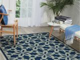 "Amazon Prime Outdoor area Rugs Nourison Caribbean Indoor Outdoor area Rug 1 9"" X 2 9"" Navy Blue"
