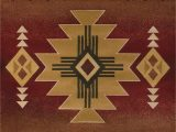 "American Indian Style area Rugs Arizona Rug Color Crimson Size 7 10"" X 10 6"