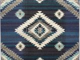 American Indian Style area Rugs Western southwestern Native American Indian area Rug 1033 Storm Blue 5ft X 7ft