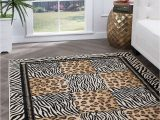 Animal Print area Rug 5×7 Casual Leopard Print Geometric 5×7 area Rug Zebra Stripe Carpet Actual 5 X7