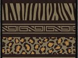 """Animal Print area Rugs 8×10 Brumlow Mills Nadine Multi Animal Print area Rug for Living Room Dining Room Kitchen Bedroom and Contemporary Home Décor 3 4"""" X 5 Multi"""