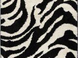 Animal Print area Rugs 8×10 Well Woven Madison Shag Safari Zebra Black Animal Print area Rug 3 3 X 5 3