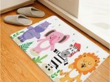 Animal Print Bath Rugs Lion Elephant Zebra Print Kids Bath Rug
