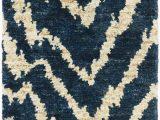 Animal Print Bath Rugs Sahara Animal Print Hand Knotted Navy area Rug