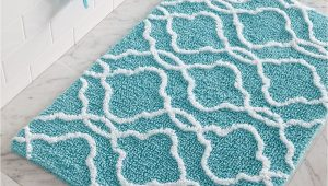 Aqua Blue Bathroom Rugs Dena Home Tangiers Bath Rug