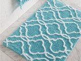 Aqua Colored Bathroom Rugs Dena Home Tangiers Bath Rug