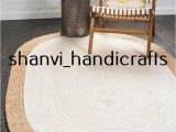 Area Rug 36 X 48 Details About Braided Natural Hand Woven Jute Rug Oval Home