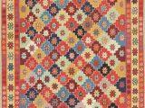 "Area Rug 36 X 48 E Of A Kind Aislin Shiraz Persian Hand Knotted 3 6"" X 4 8"" Wool orange Blue area Rug"