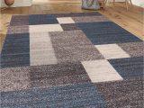 "Area Rug 5×7 Blue Modern Boxes Design Non Slip Non Skid area Rug 5 X 7 5 3"" X 7 3"" Blue"