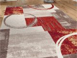 """Area Rug Edges Curling Up Contemporary Abstract Circle Design Multi soft 5 3"""" X 7 3"""" Indoor area Rug"""