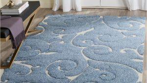 Area Rug for Blue Couch Safavieh Florida Shag Light Blue Cream 6 Ft X 9 Ft area