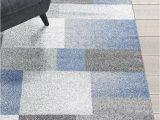 Area Rug for Grey Floors Rugs area Rugs Carpets 8×10 Rug Modern Large Floor Room Blue